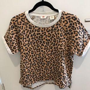 Levi's leopard short sleeves sweatshirt